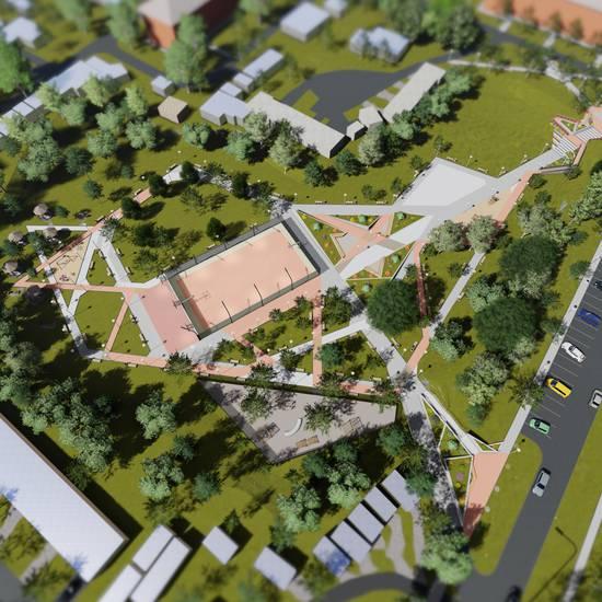 Влаштування паркової зони у м. Бориспіль